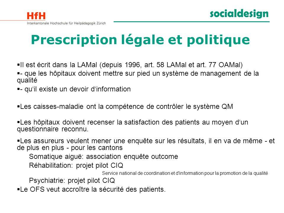 Prescription légale et politique