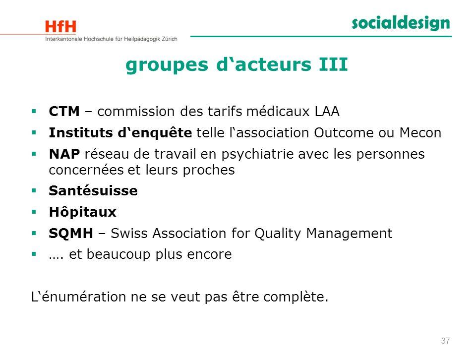 groupes d'acteurs III CTM – commission des tarifs médicaux LAA