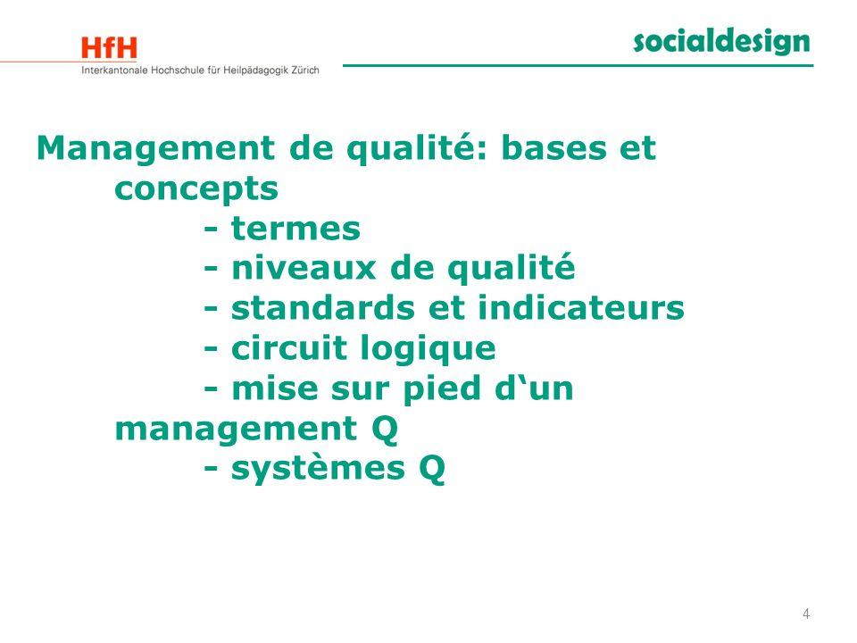 Management de qualité: bases et concepts. - termes