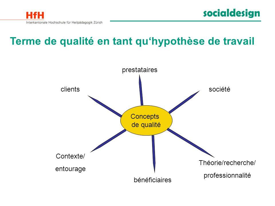Terme de qualité en tant qu'hypothèse de travail