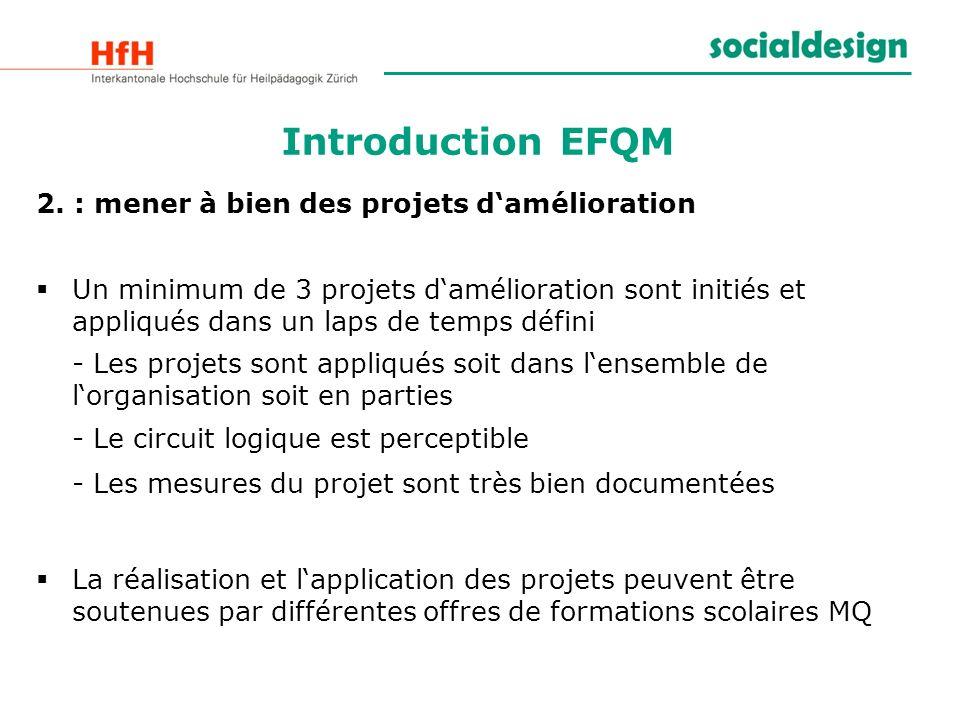 Introduction EFQM 2. : mener à bien des projets d'amélioration