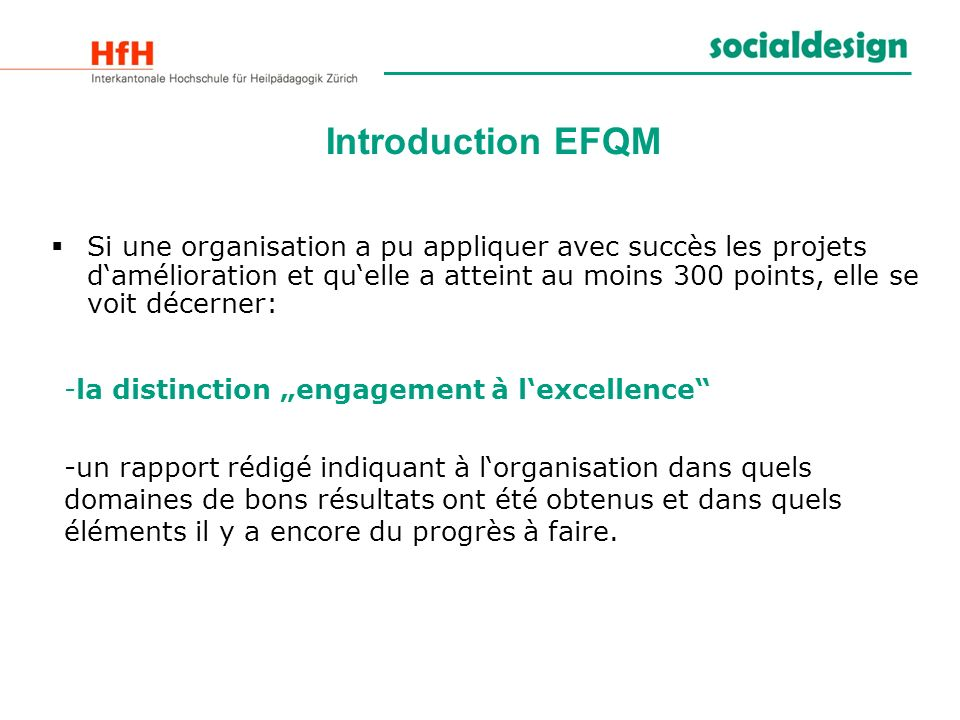 Introduction EFQM