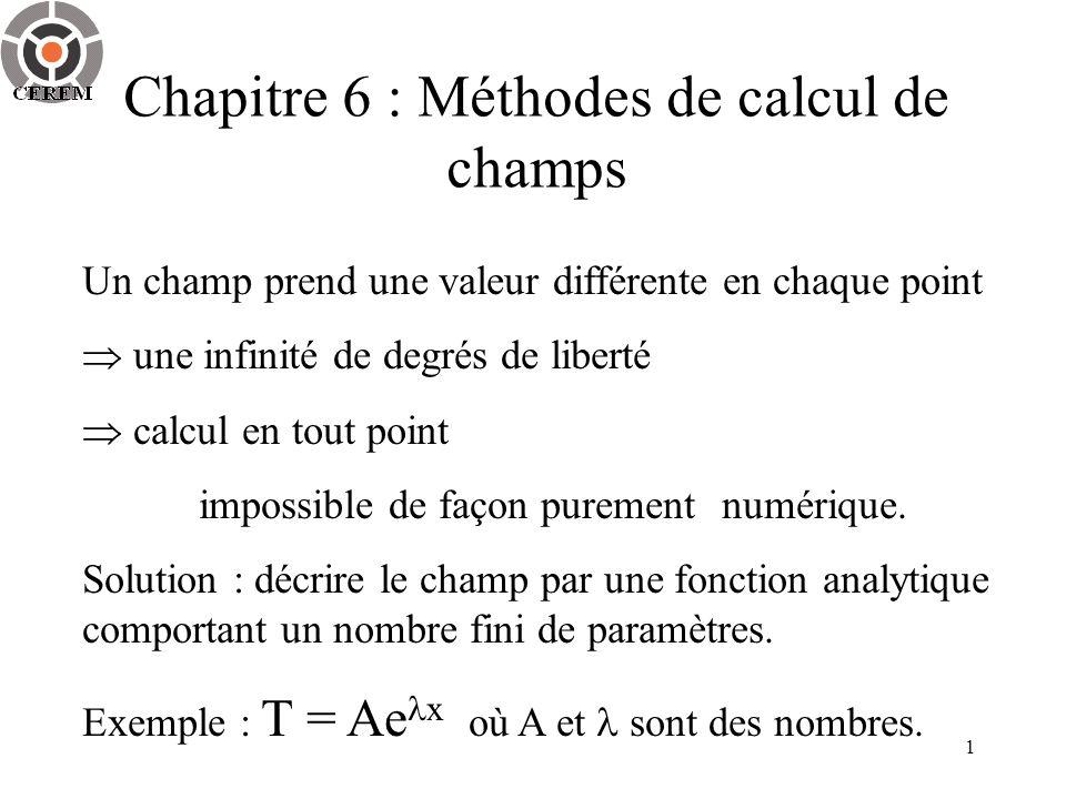 Chapitre 6 : Méthodes de calcul de champs
