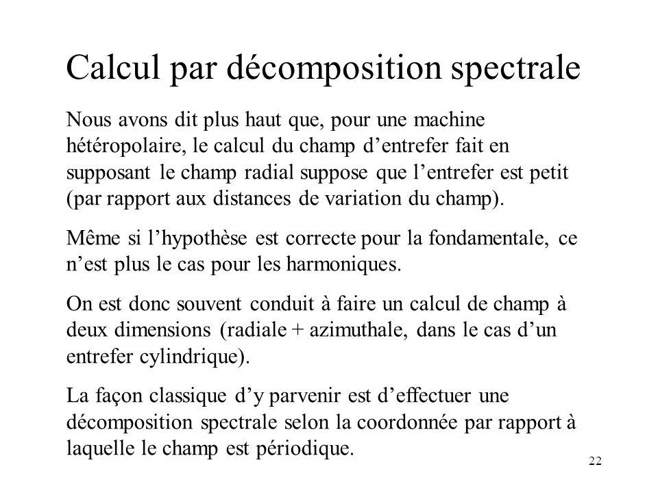 Calcul par décomposition spectrale