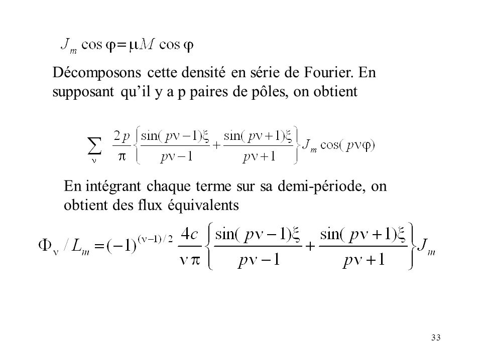 Décomposons cette densité en série de Fourier