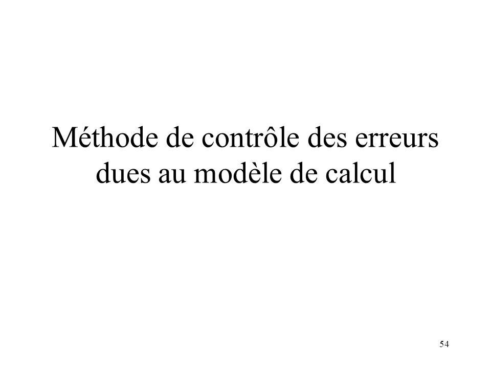 Méthode de contrôle des erreurs dues au modèle de calcul