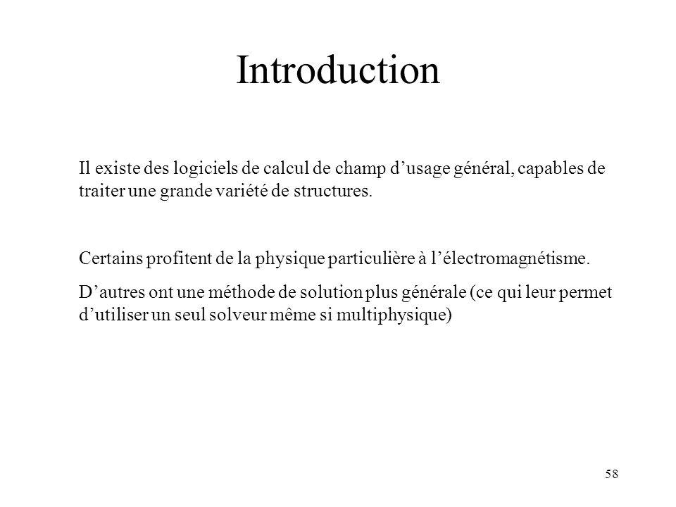 Introduction Il existe des logiciels de calcul de champ d'usage général, capables de traiter une grande variété de structures.