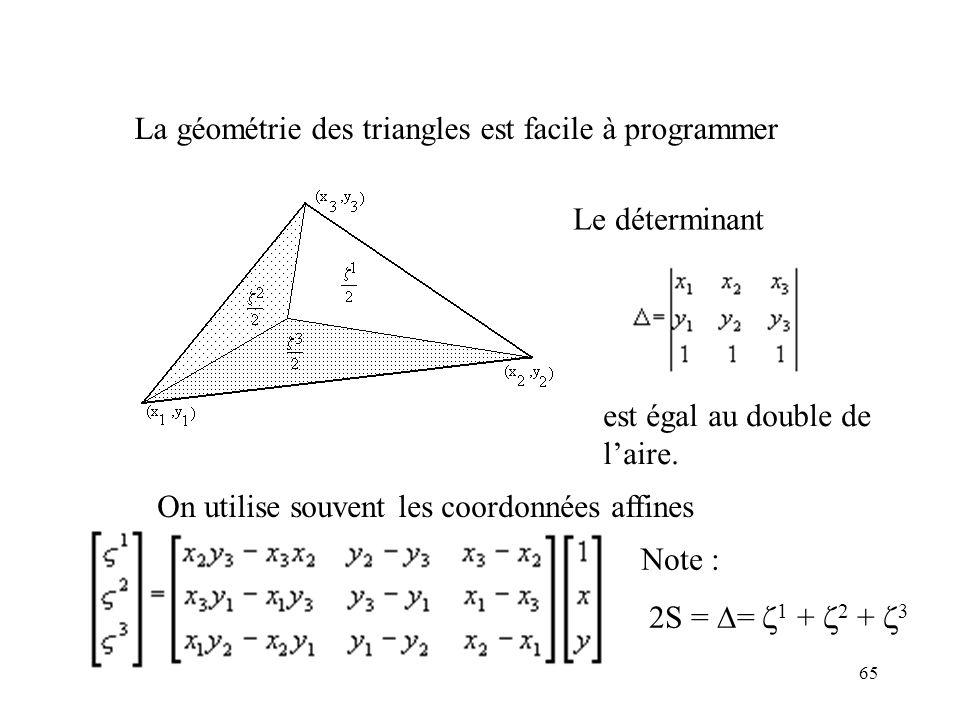 La géométrie des triangles est facile à programmer