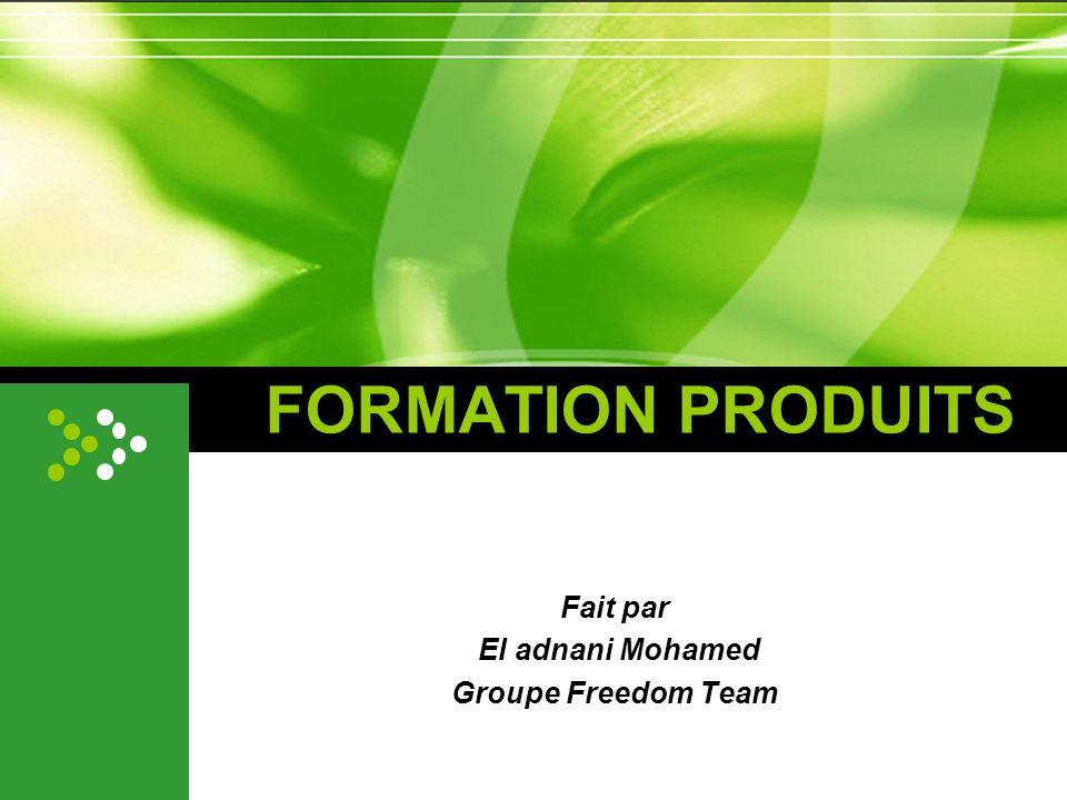 Fait par El adnani Mohamed Groupe Freedom Team
