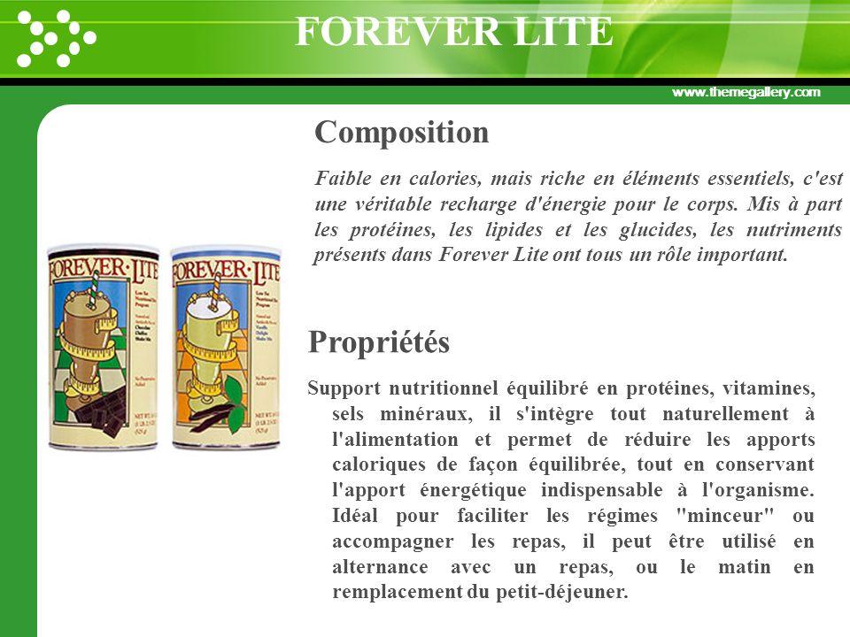 FOREVER LITE Composition Propriétés