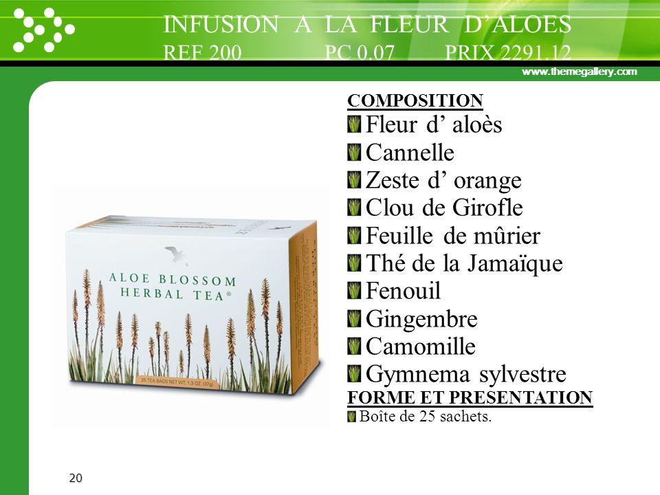 INFUSION A LA FLEUR D'ALOES