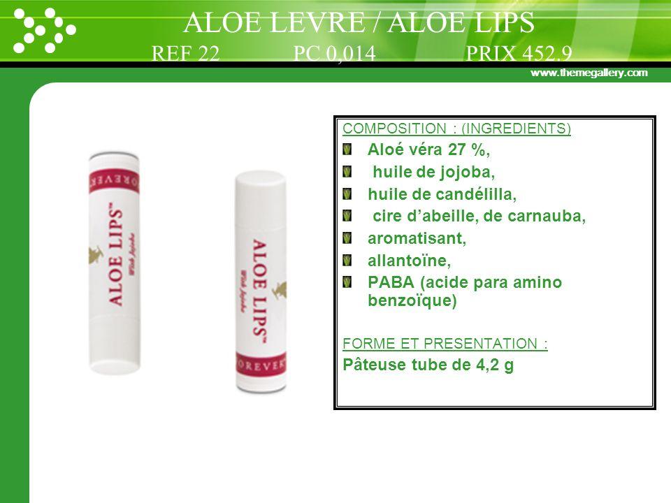 ALOE LEVRE / ALOE LIPS REF 22 PC 0,014 PRIX 452.9