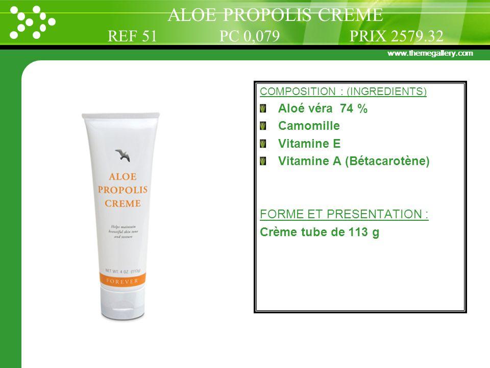ALOE PROPOLIS CREME REF 51 PC 0,079 PRIX 2579.32