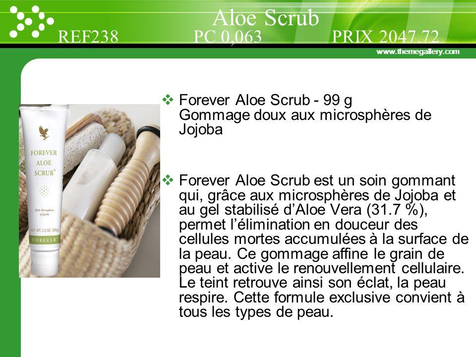 Aloe Scrub REF238 PC 0,063 PRIX 2047.72. Forever Aloe Scrub - 99 g Gommage doux aux microsphères de Jojoba.