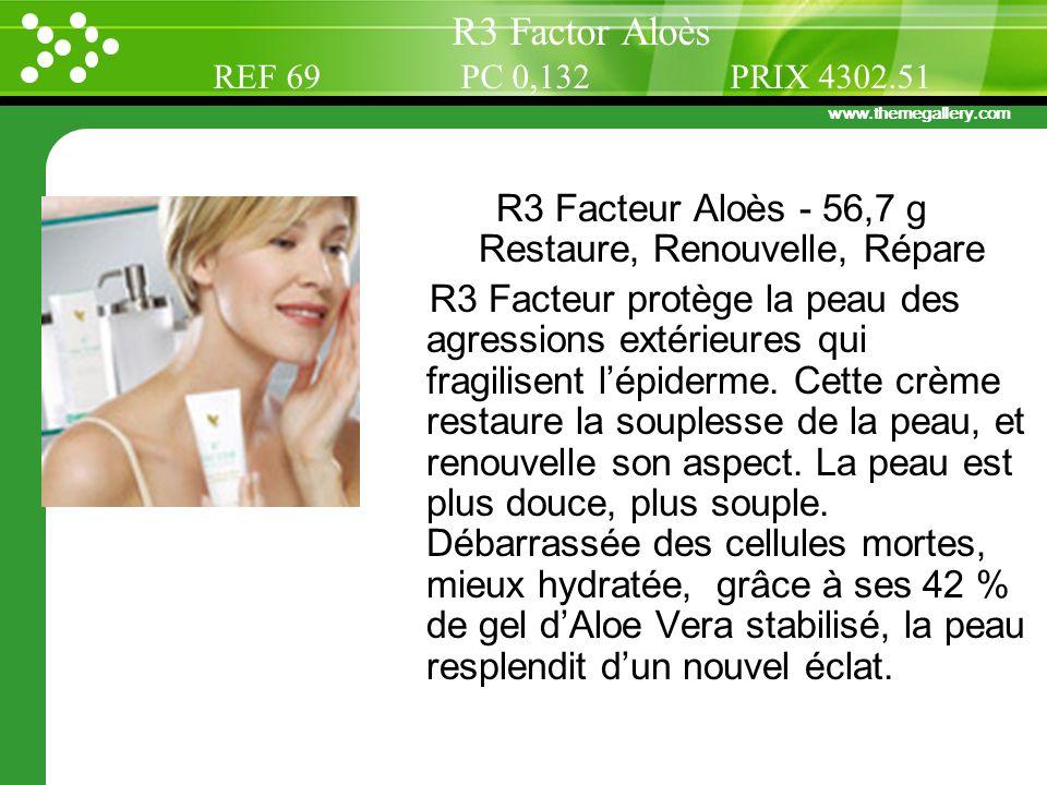 R3 Facteur Aloès - 56,7 g Restaure, Renouvelle, Répare