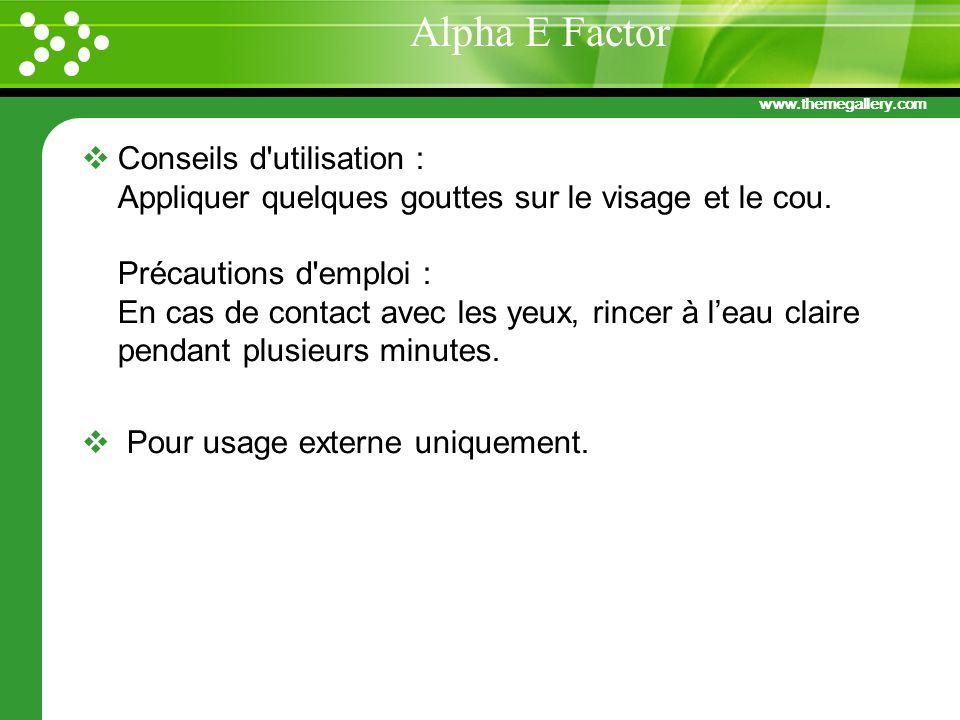 Alpha E Factor