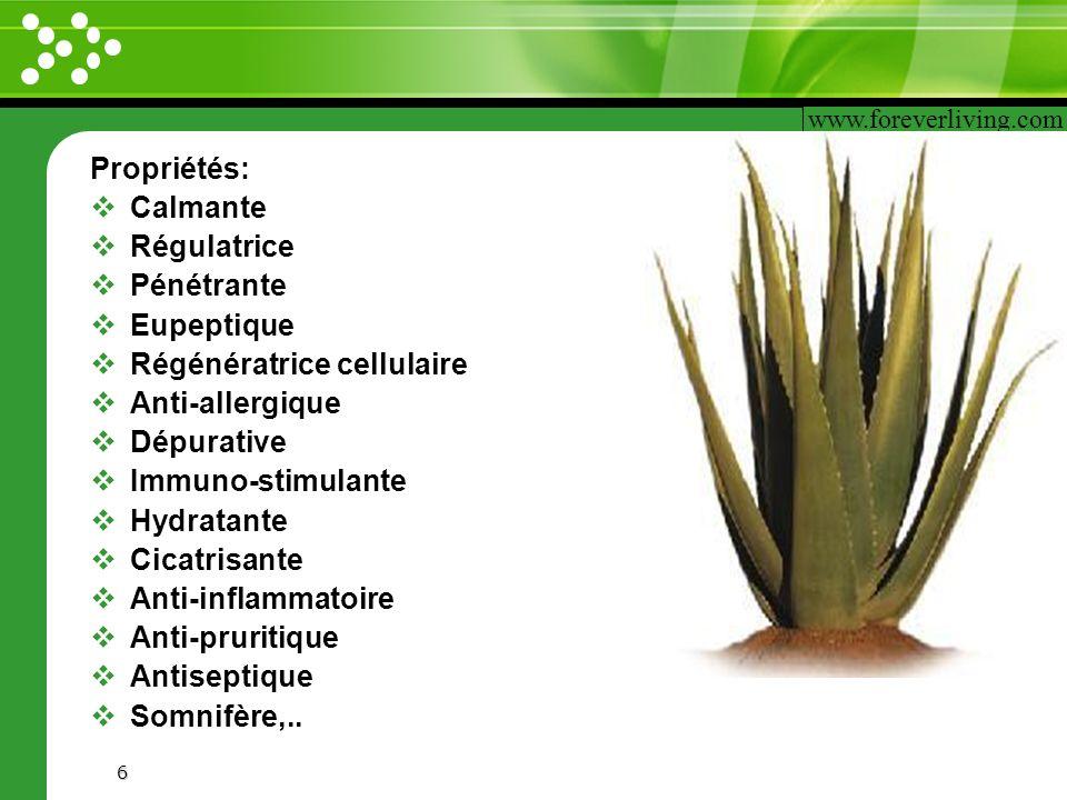 Régénératrice cellulaire Anti-allergique Dépurative Immuno-stimulante