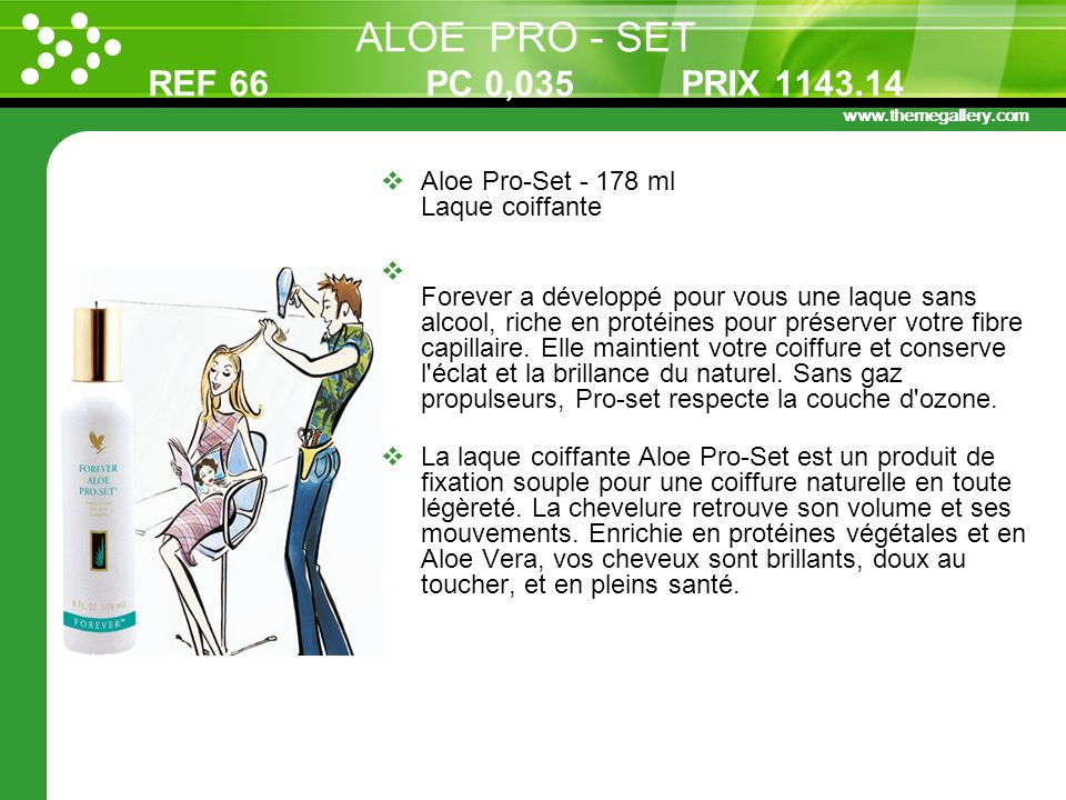 ALOE PRO - SET REF 66 PC 0,035 PRIX 1143.14