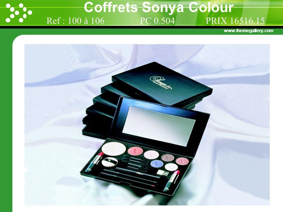 Coffrets Sonya Colour Ref : 100 à 106 PC 0.504 PRIX 16516.15