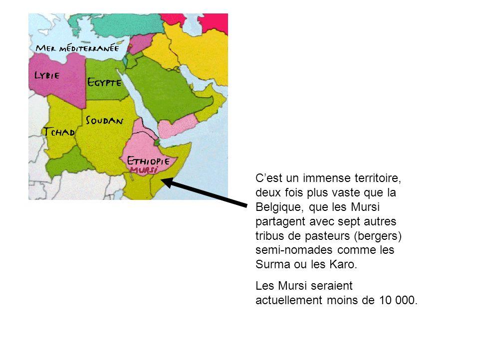 C'est un immense territoire, deux fois plus vaste que la Belgique, que les Mursi partagent avec sept autres tribus de pasteurs (bergers) semi-nomades comme les Surma ou les Karo.