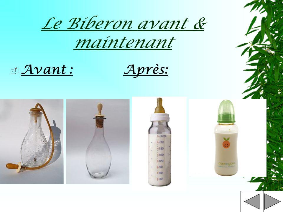 Le Biberon avant & maintenant