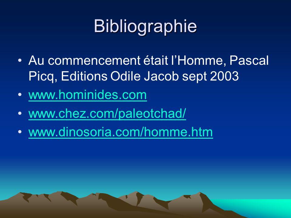 Bibliographie Au commencement était l'Homme, Pascal Picq, Editions Odile Jacob sept 2003. www.hominides.com.