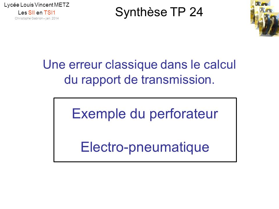 Exemple du perforateur Electro-pneumatique