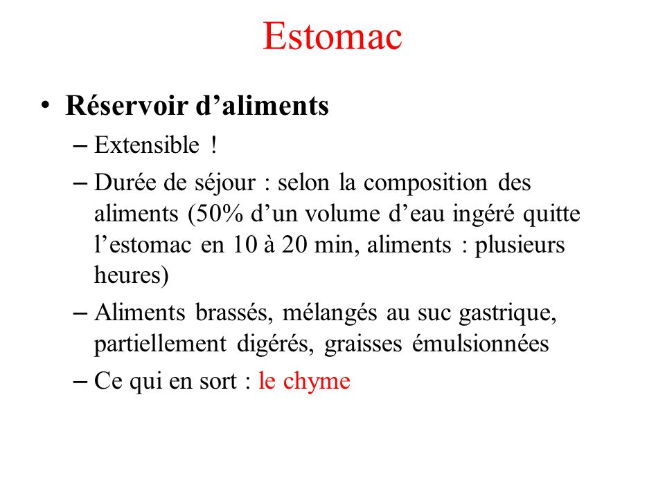 Estomac Réservoir d'aliments Extensible !