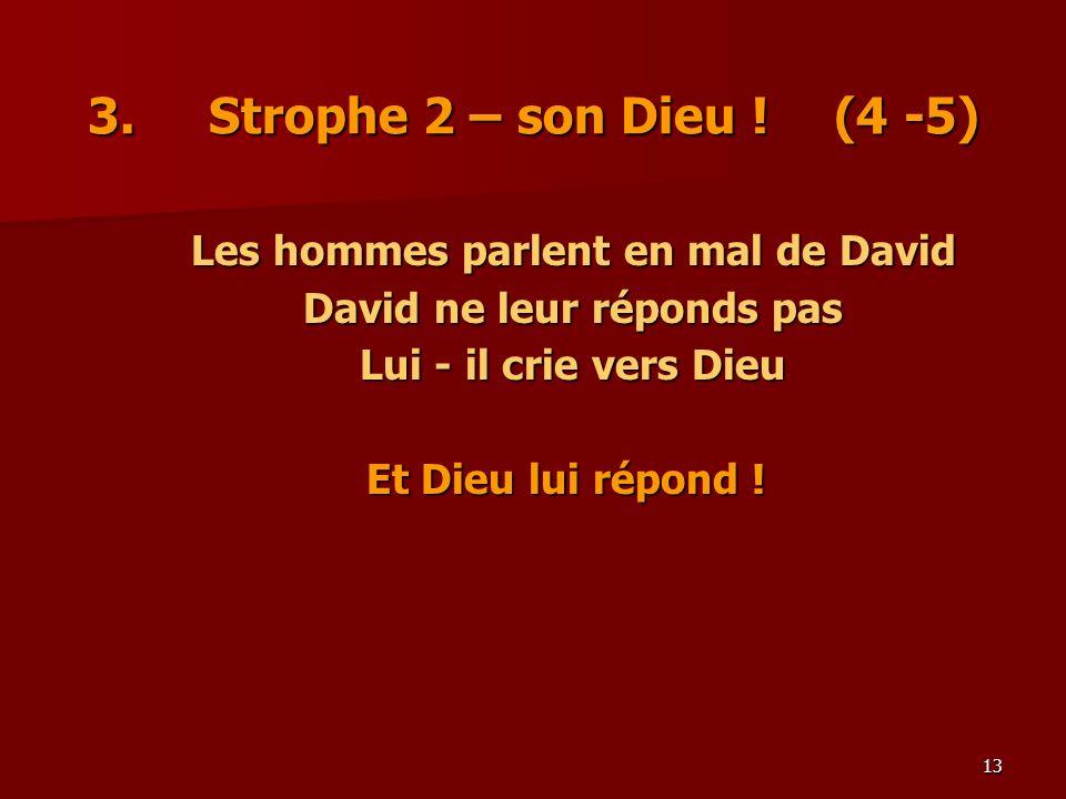 Les hommes parlent en mal de David David ne leur réponds pas