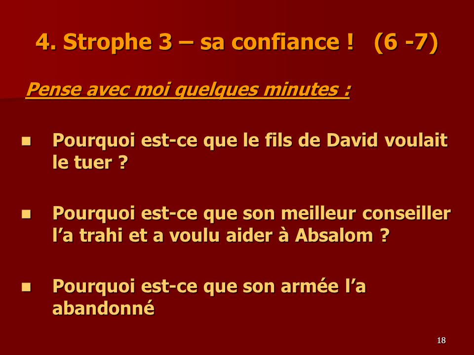 4. Strophe 3 – sa confiance ! (6 -7)