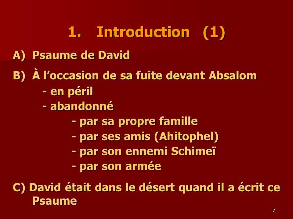 1. Introduction (1) A) Psaume de David