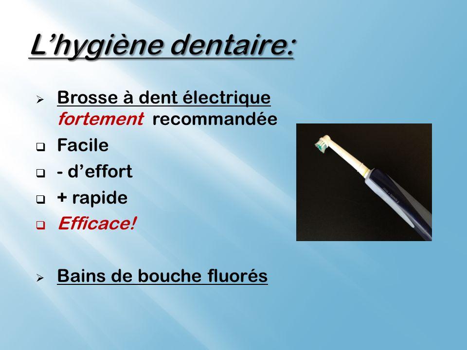 L'hygiène dentaire: Brosse à dent électrique fortement recommandée