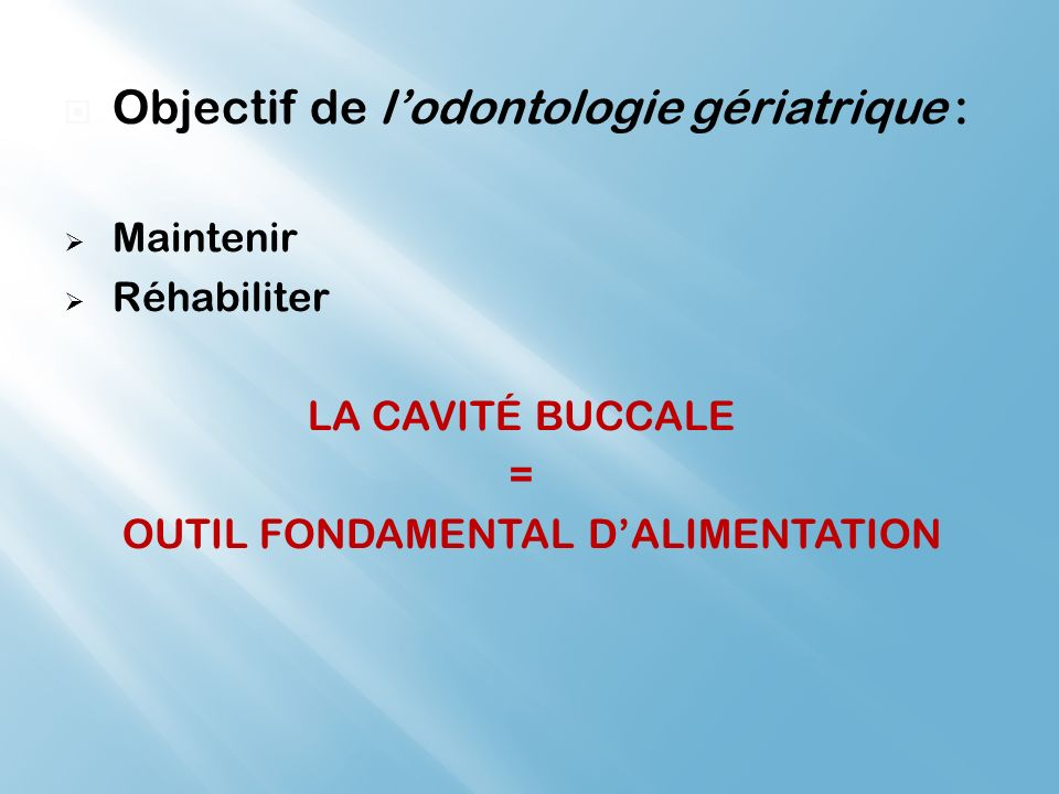 OUTIL FONDAMENTAL D'ALIMENTATION