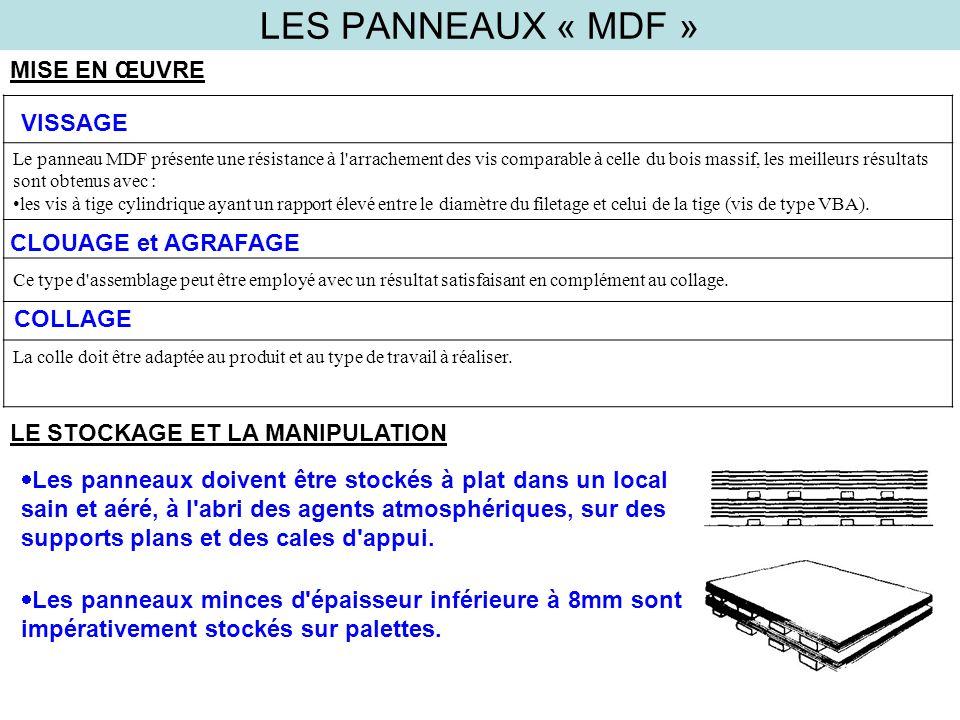 LES PANNEAUX « MDF » MISE EN ŒUVRE VISSAGE CLOUAGE et AGRAFAGE COLLAGE
