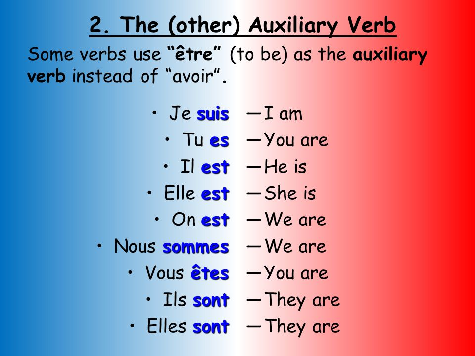 2. The (other) Auxiliary Verb
