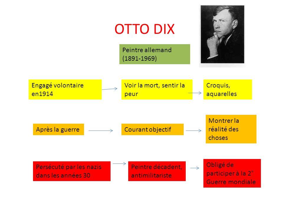 OTTO DIX Peintre allemand (1891-1969) Engagé volontaire en1914