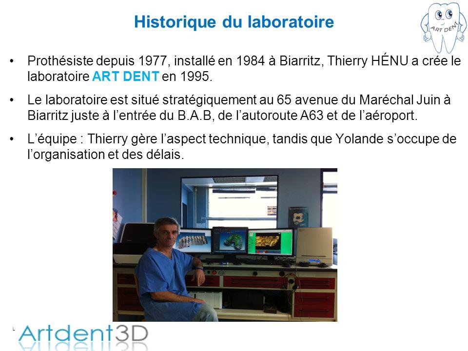 Historique du laboratoire