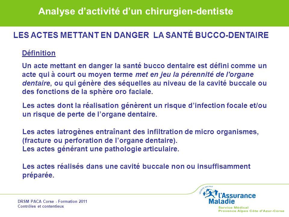 LES ACTES METTANT EN DANGER LA SANTÉ BUCCO-DENTAIRE