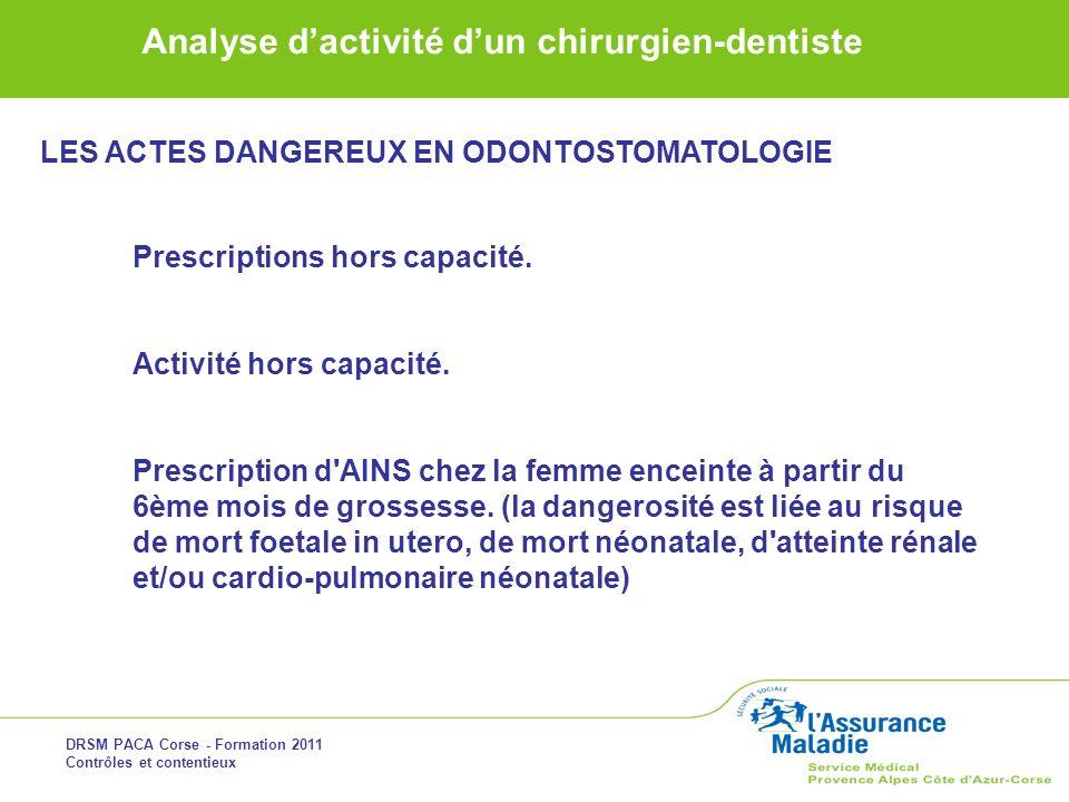 LES ACTES DANGEREUX EN ODONTOSTOMATOLOGIE