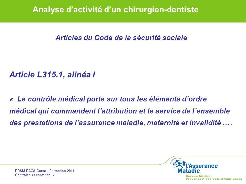 Articles du Code de la sécurité sociale