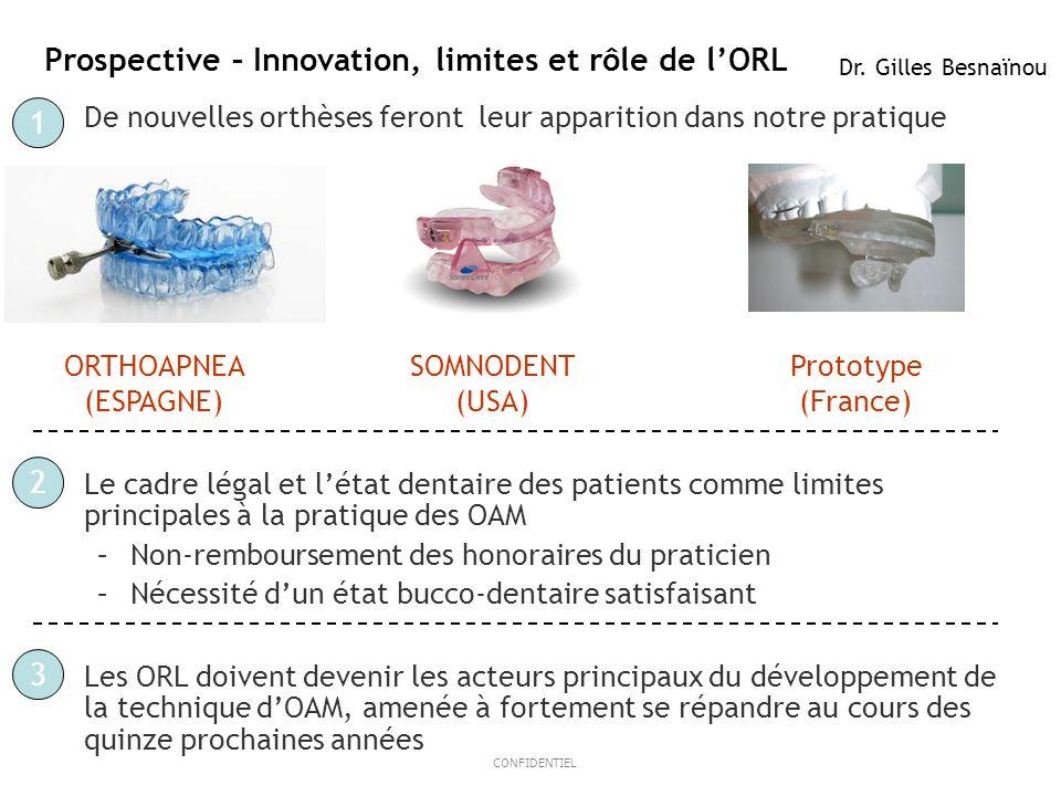 Prospective – Innovation, limites et rôle de l'ORL