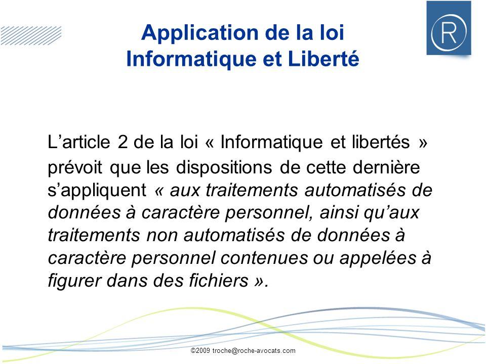 Application de la loi Informatique et Liberté