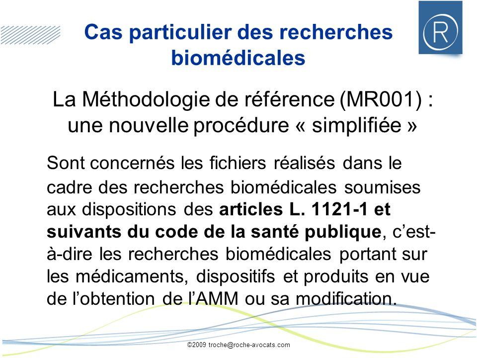 Cas particulier des recherches biomédicales
