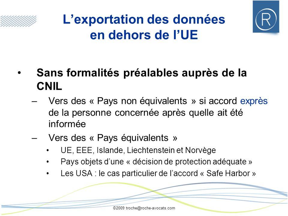 L'exportation des données en dehors de l'UE