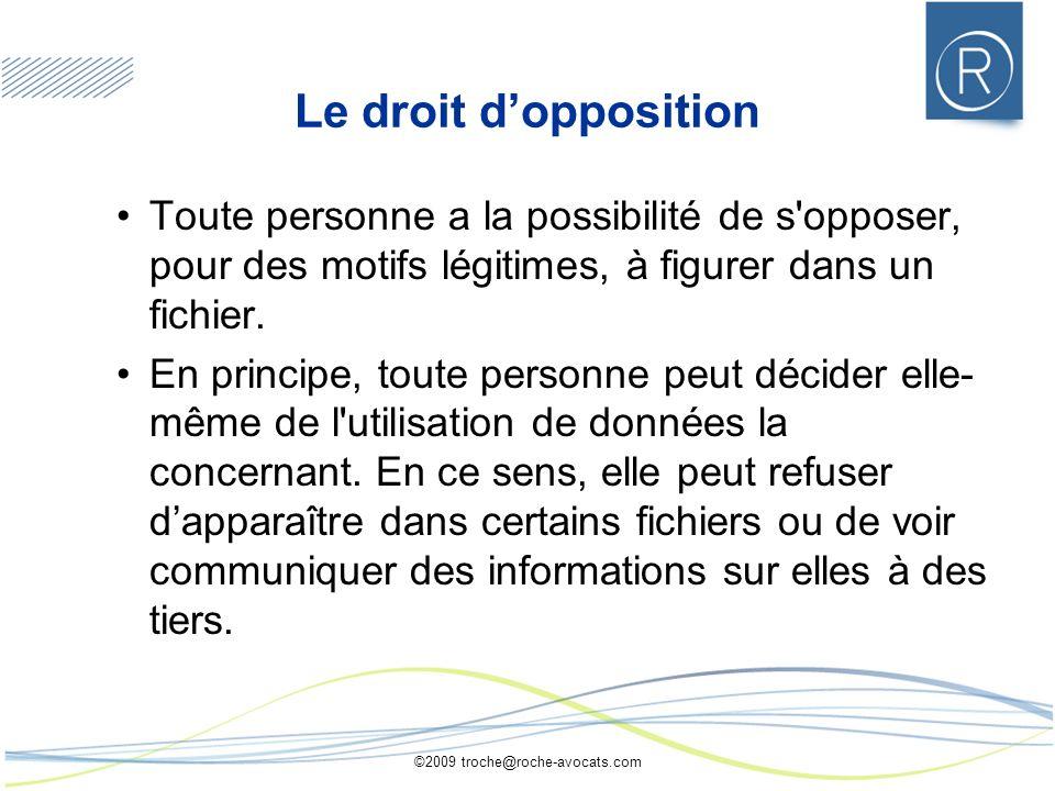 ©2009 troche@roche-avocats.com