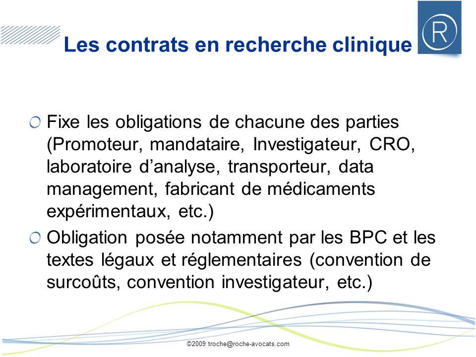 Les contrats en recherche clinique
