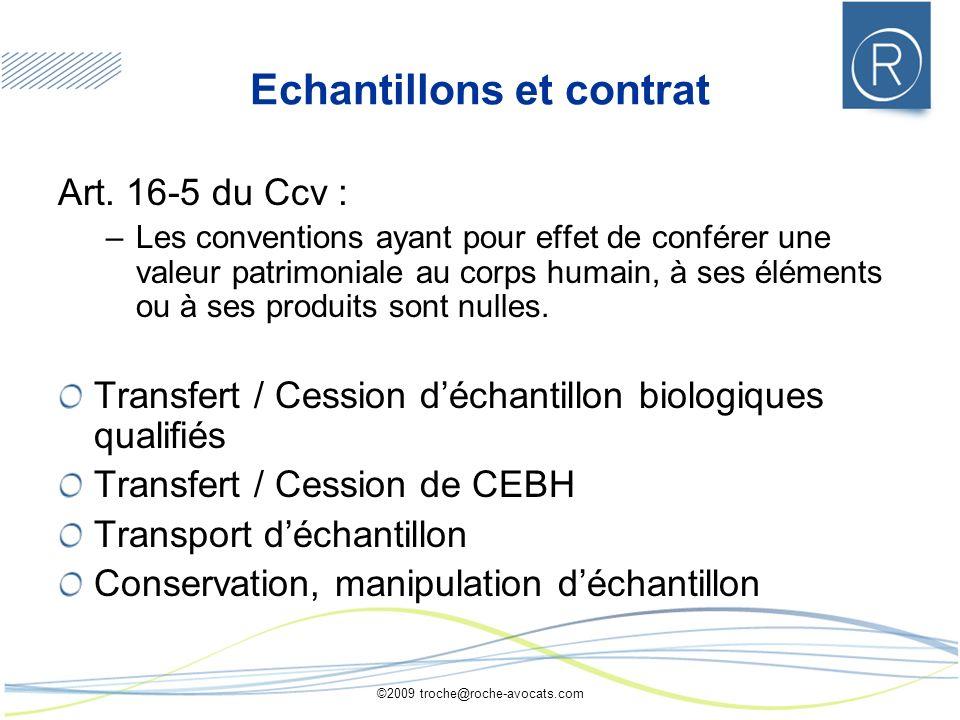 Echantillons et contrat