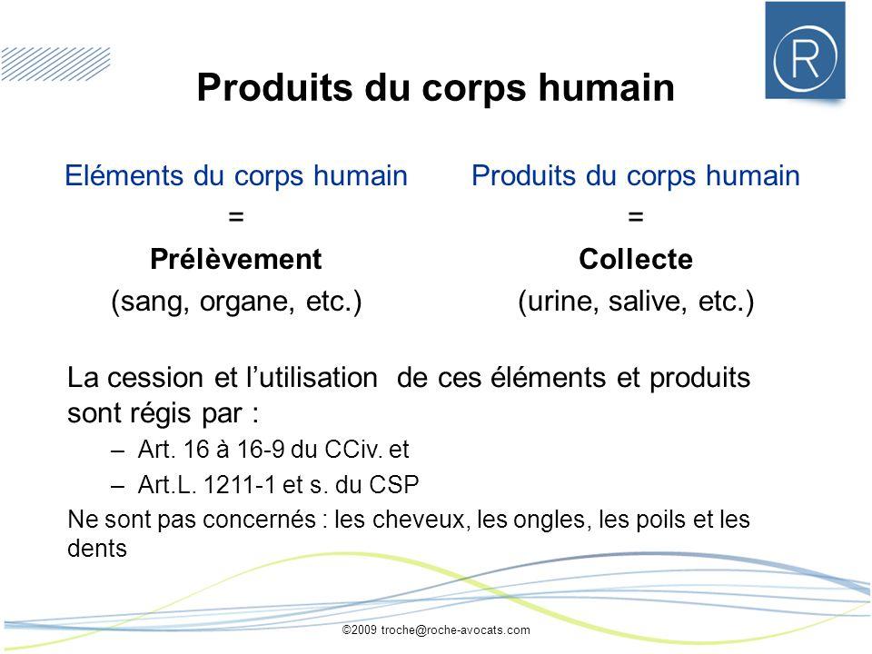 Produits du corps humain