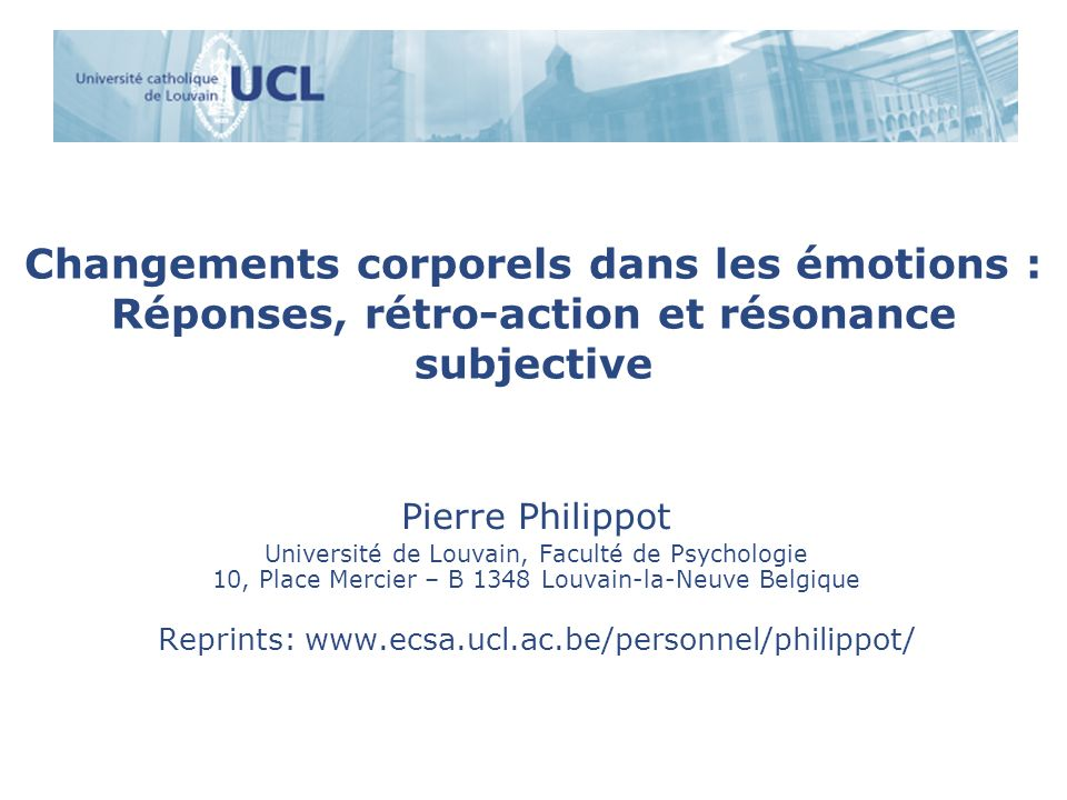 Reprints: www.ecsa.ucl.ac.be/personnel/philippot/