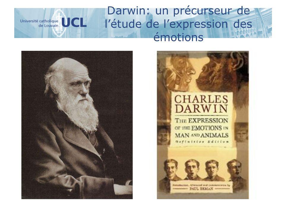 Darwin: un précurseur de l'étude de l'expression des émotions
